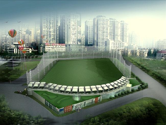 上海万人体育馆高尔夫练习场建筑设计方案